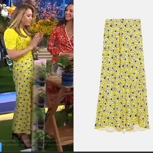 Zara Yellow Floral Maxi Skirt